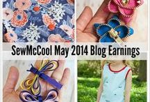 SewMcCool - Blog traffic/earnings reports / I'm a new blogger (December 2013) and want to answer the question: Can craft blogs earn money? These are my monthly reports.