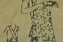 Aprons / A walk through apron sewing pattern history with some added cute contemporary aprons.