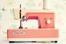 Sewing room inspiration / Who doesn't daydream about a neat,  bright,  beautifully designed place to sew?