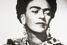 Frida Kahlo::: / A collection of #Frida #Kahlo photography, jewelry, items & inspired fashion & colors that remind me of frida.