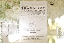 Wedding Menu / Be creative to keep your guests in appetite