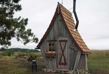 Tiny houses - My Dream Studio / I would love one of these in the woods around the garden, for a studio for me!