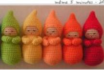 Dolls for a very little girl / These can be held by little baby hands and played with