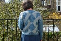 Woolly Thoughts Sweaters / Many of these pictures are of poor quality, having been scanned from old photos. They are all garments based on the methods used in the books 'Woolly Thoughts' and 'Second Thoughts'. For more information, go to http://www.woollythoughts.com/public.html