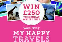 My Happy Travels Competition / Create your own #myhappytravels board and share with us your dream holiday to be in with a chance of winning £250 to spend at White Stuff! The board we like most will win - happy pinning!  / by White Stuff UK