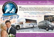 """Colorado Wedding Travel & Transportation / Wedding Transportation, Travel, Guest Rooms, and Financial Services in Colorado as featured in """"Wedding Sites and Services"""" magazine."""