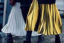 Street style - Pleated Skirt