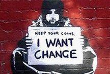 street art | signs | neon / street art, graffiti, road signs, street signs, neon, etc. / by sharon
