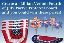Lillian Vernon Fourth of July Party  / This is a sample board of an entry for the Lillian Vernon 4th of July Giveaway.   At least 2 Pins from LillianVernon.com + more ideas for a Fourth of July Party!   Submit your boards here: http://pinterest.com/pin/193162271490756538/ / by Lillian Vernon