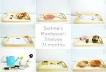 Kita: Tablettarbeit / Tabletts für Kitakinder (Montessori)