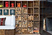 caixes-crates-boxes / Wine crates, apple crates, box shelving