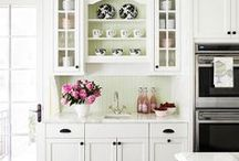 Kitchens / Beautiful kitchens.  Mostly white, but a few with dark cabinets.  / by Loribeth Clark