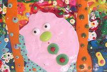 Allyn Howard dimensional paintings / Shiny dimensional paintings