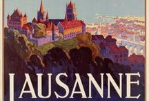 Lausanne Switzerland / SMART SELECTION OF LAUSANNE VINTAGE POSTERS