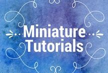Miniature Tutorials / In my book, Kicked to the Curb, I introduce Honora McAfee, a crafter who specializes in turning trash into tiny treasures. Here you'll find inspiration for some of Honora's best work. Most are 1:12 scale.