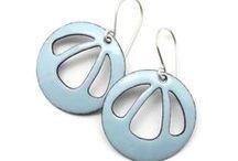 Enamel Earrings / Modern handmade enamel jewelry