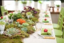 Weddings: Green is the New Black / Fresh, green wedding details