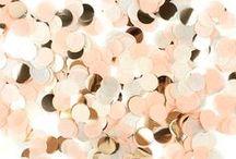 Peach/Blush Metallic Wedding