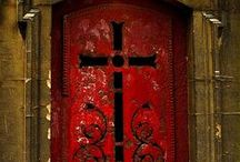 """DOORS, Portals, etc... / """"So I say to you: Ask and it will be given to you; seek and you will find; knock and the door will be opened to you.   Luke 11:8-10  NO LIMIT ON PINS. ENJOY.  / by Jan Gruber"""