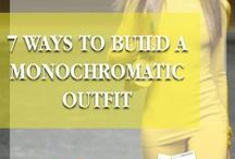 Styling Tips: Monochromatic Dressing / Styling tips on how to create monochromatic looks: http://thedaileigh.com/product/monochromatic-dressing/ / by The Daileigh