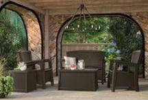 Patio Furniture - JAVA / Be it patio, porch, deck, or backyard, java furniture makes a bold statement with its dark and distinguished hue.