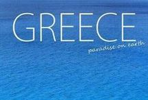 "ROMANTIC  GREECE / ""I like airplanes. I like anywhere that isn't a proper place. I like inbetweens."" ▼   Neil Gaiman  / by Elaine Nasser ☆"