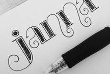 Lettering Ideas / by Janna Henley McCollough
