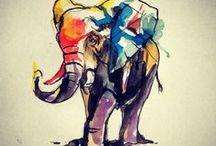 chelsea: tattoo - elephant / by Chelsea Rose Black