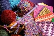 Tunisian Crochet - Hakking / Tunesisk hekling, Afghansk strikking.
