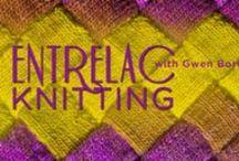 Entrelac knitting - Kontstrikk / Nävestick