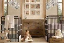 {Nursery} / nursery | nursery design | twin nursery | baby | decorating | style + design
