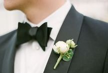 Bow Ties, Boutonnieres and Bachelors / Men's fashion for weddings
