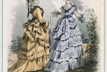 Victorian: 1872 dresses / Because it's 100 years before I was born