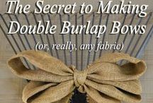 Rustic Burlap Wedding ideas / Inspiration for using burlap in your rustic wedding: reception decorations, centerpieces, wooden boxes, mason jars, bouquets, invitations, DIY, and more.