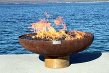 The Font O' Fire sculptural Firebowl / The Font O' Fire is perhaps my most versatile firebowl, equally at home in a wide variety of settings from rural to urban, rustic to high modern. Cradled in this shallow form, flames burn close, in an intimate display.