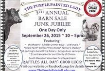 Barn Sale Junk Jubilee -The Purple Painted Lady / Every year, sometime in September- The Purple Painted Lady hosts a festival on her home property of 20 acres in Macedon, NY.  Over 90 hand picked unique artisans, food trucks, wineries, microbreweries, and farmers attend.   Save the date of September 26, 2015 for this year's! / by The Purple Painted Lady ~ Tricia Kuntz
