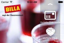 """Unsere Apps / Hier finden Sie neben unserer beliebten """"frisch gekocht"""" App auch Links zum Download der BILLA App, der BILLA Shop App sowie der BILLA 4Kids Spiele-App."""