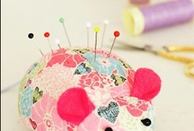 Pin Cushion and thread catchers
