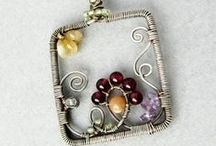 Wire wrapping / Writing and wire designs / by June