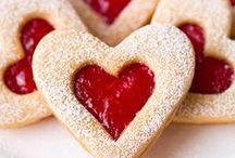 !Valentine's Day Recipes! / For your sweetheart! Or just for you -- no judging :) All things red, pink, heart-shaped and chocolate.