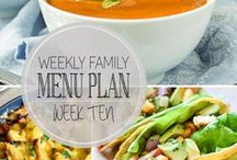 Menu Plans / Weekly menu plans to help you out! / by Ashley | The Recipe Rebel