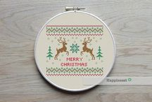 • Cross stitch Christmas