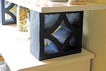 Cinder Block Ideas / by Velda Roberts