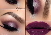 Makeup and Beauty / Lipstick and False Lashes