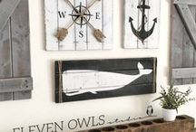 Nautical Home Style / Beach and ocean themed ideas and decor for the home.