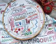 Embroidery Samplers - Modern / Modern embroidery samplers.