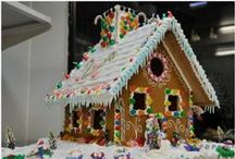Christmas Gingerbread / The Art Of Decorating Gingerbread Houses In The Spirit Of Christmas