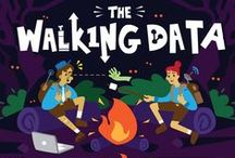"""The Walking Data / It's that age-old campfire story, where innocent civilians are suddenly surrounded by overwhelming hordes of – you guessed it – Big Data. MapR wanted a fun, Halloween-appropriate graphic to describe the pain points of big data and their cutting-edge solutions, so we found the slim overlap in the Venn diagram between """"big data"""" and """"zombies"""" and ran with it. We ended up with MapR's most popular slideshare ever."""