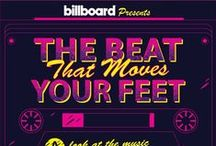 Billboard - Exercise Playlist Infographic / What music do people listen to while they get their sweat on? We took a list of Billboard's most popular work-out music and made this blood-pumping breakdown of what's happening inside those sweaty headphones.