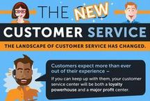 Customer Service Infographic / The digital age has transformed every aspect of business operations, and customer service is no exception. Using studies and statistics to illustrate both what customer service once was and what it could be, this infographic details the benefits of switching to client Appirio's knowledge center platform and turning customer service into a profit center.